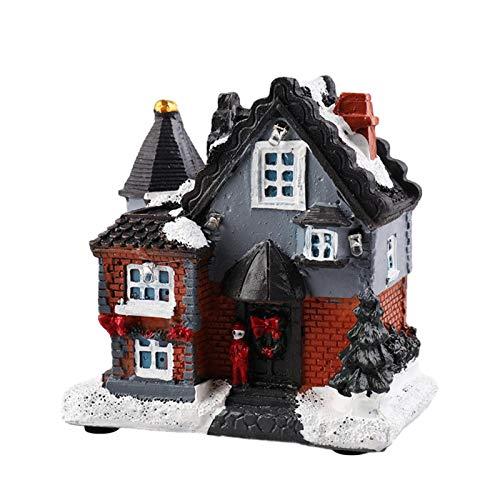 ZQYX Figura De La Casa De Nieve De Navidad con Luz LED,...