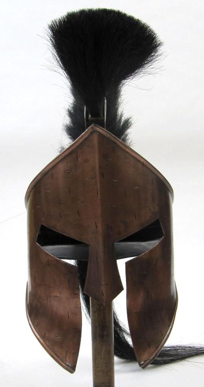 mejor marca IR80862 Spartan casco casco casco negro con pluma y cobre acabado  la red entera más baja