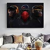 KWzEQ Poster auf Leinwand von Denken Gorilla Wandkunst Bild