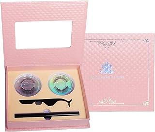 PIXNOR Valse Wimper Eyeliner Kit Met Plastic Valse Wimper Pincet Make-Up Tools Voor Dames Dame Set 2