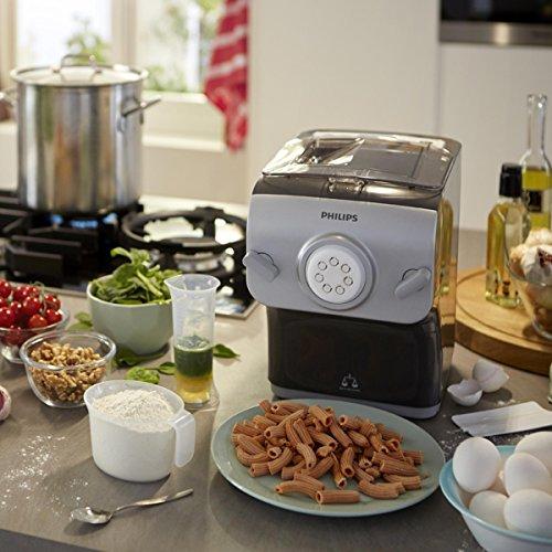 Philips HR2358/12 Pastamaker (machine à pâte automatique avec balance et 8formes de bol).