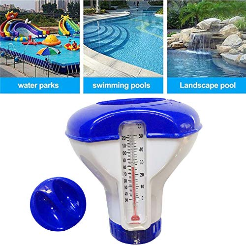 Chlorspender Pool, Pool Chlor Dosierschwimmer, 5 Zoll Chlordosierer Mit Thermometer, Chemikalienschwimmer Pool Schwimmer, Pool Chlor Schwimmer Thermometer Dosierung Chlordosierschwimmer Für Pool