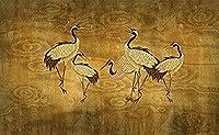 中国の古代絵画ヴィンテージクレーンクレーン雲壁紙壁壁紙装飾3D壁紙ペーストリビングルーム寝室の壁壁画--430cmx300cm