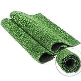 Césped artificial de 15 mm de altura más grueso y rentable y de alta densidad, color verde militar