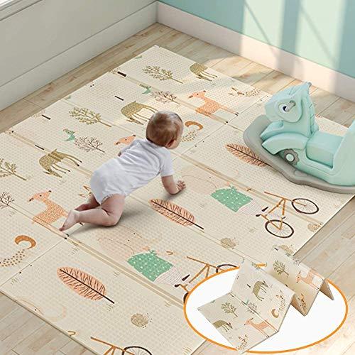 US Kid Play Mat Non Toxic Folding Floor Mat Foam Large Tiles Waterproof Camping