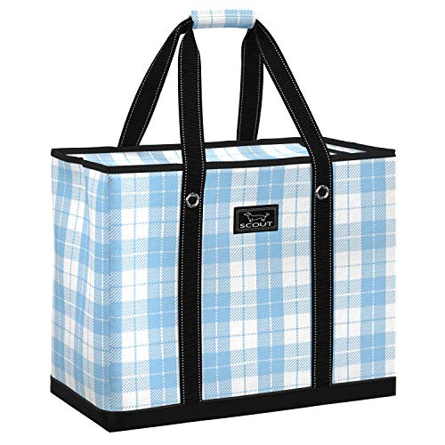 SCOUT 3 Girls Bag, Extra Large Beach Bag with Zipper, Pockets, and Comfort Grip Handles, Lightweight, Water-Resistant Utility Tote Bag in Blanket Statement Pattern (Multiple Patterns Available)