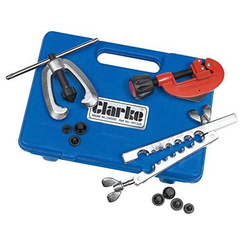 Clarke CHT229 - Kit de abocardador para tubos de freno