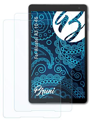 Bruni Schutzfolie kompatibel mit Alcatel A3 10 4G Folie, glasklare Bildschirmschutzfolie (2X)