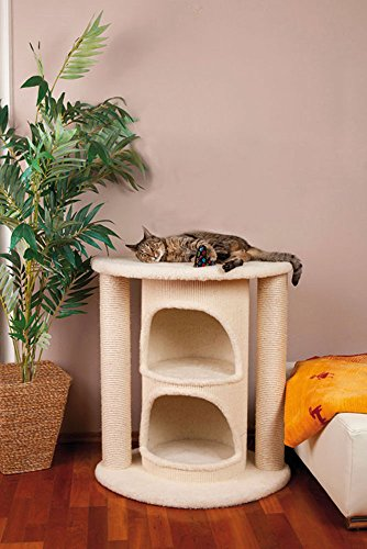 CLEVERCAT Kratzbaum Pharo mit integrierter Sisal Kratztonne für unendliche Kratzmöglichkeiten und viel Platz zum Schlafen für Ihren Stubentiger. Made in Germany 4974