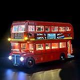 rosemaryrose per Lego Box,Kit di Illuminazione A LED per Mattoncini per Lego London Bus 10258 Toy Mattoncini