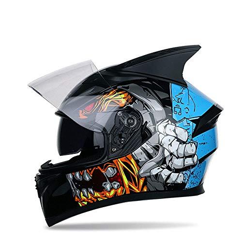 Aopoy 4 Temporada Fuera del Camino Cara Completa Casco de Motocicleta, Con Esquina Casco Protector, Cascos De Motocross Casco Downhill, para Mountain Motorcycle Endurance Race ATV MTB-LZ316-A7-02_SG