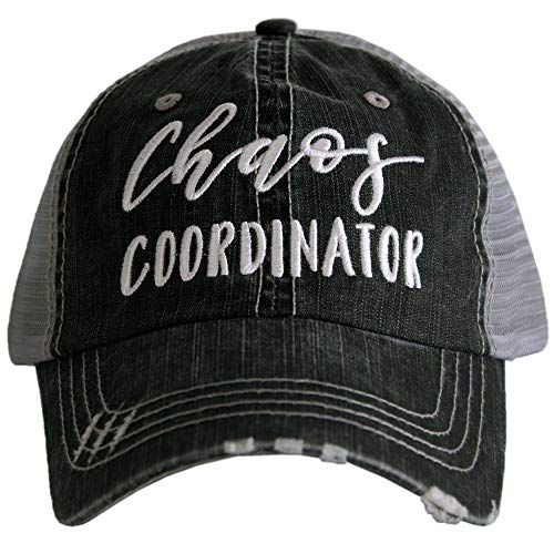 KATYDID Chaos Coordinator Baseball Cap - Trucker Hat for Women - Stylish Cute Ball Cap (Grey)