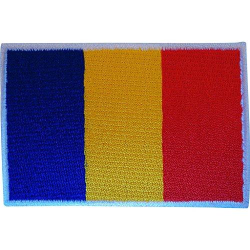 Rumänische Flagge, Aufnäher zum Aufbügeln oder Aufnähen, bestickte Applikation