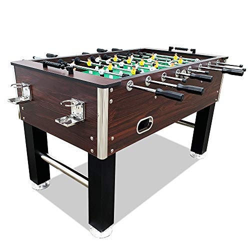 """T&R sports 55"""" Soccer Foosball Table Heavy Duty for Pub Game Tournament for Kids and Adults,Espresso"""