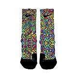 HoopSwagg Graffiti Custom Elite Socks Small