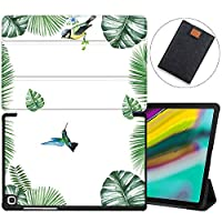 MAITTAO Galaxy Tab S5e 10.5 2019 Case Model SM-T720/T725, Slim Folio Shell Case Stand Cover with Wake/Sleep for Samsung Galaxy Tab S5e 10.5 Inch Tablet Sleeve Bag 2 in 1 Bundle, Flowers & Leafs 6