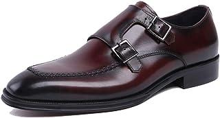 Chaussures Robe de mariée banquet Chaussures,Boucle Monk hommes Chaussures en cuir d'affaires Rétro Chaussures en cuir de ...