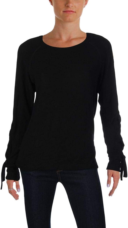 LNA Clothing Womens Lace-Up Long Sleeves Sweatshirt