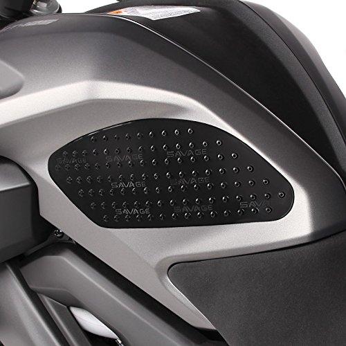 Seiten-Tankpad für Ducati 899/959/ Panigale/R, 916/996/998/999,Hypermotard 796/821/939/1100/Evo, Diavel, Xdiavel/S, Streetfighter/S, 848/ Supersport/S Motea Grip M schwarz