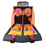 Amersumer Basketball Shooting Game,One or Two Player Desktop Basketball Game Classic Basketball Desktop Toy Shooting Catapult Toy Arcade Games Fun for Kids Adults Sports Fans - Helps Reduce Stress