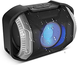 N/A Bluetooth Speaker IPX5 Waterproof with LED Light Wireless Speaker Portable Outdoor Speaker for Family Travel Riding Bl...