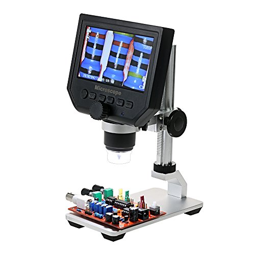 KKmoon Digital USB Microscope,600X 4.3 LCD Display Electronic Video...