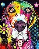 Color perro serie número de pintura diy pintura al óleo por números kit pintura lienzo pintura por números para niños adultos arte pintura A1 60x75cm
