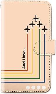 CANCER by CREE 手帳型 ケース FREETEL SAMURAI MIYABI 飛行機 ドット リーフ スマホ カバー dy001-00175-01 FREETEL miyabi(雅):M