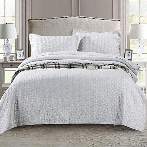 北欧ベッドカバー ソファーカバー ベッドスプレッド マルチ カバー キルト おしゃれ ダブル 綿100% 枕カバー 寝具カバーセット 3点セット 四節適用 優しい肌触り-yt-x020 (L)