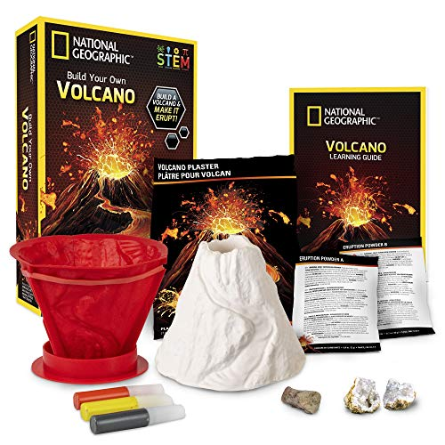 NATIONAL GEOGRAPHIC Volcano Science Kit – Build an Erupting Volcano with this Volcano Kit for Kids, Multiple Eruption Experiments to Try, Great for Science Projects