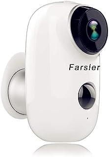 Farsler Cámara de Seguridad inalámbrica Recargable Impermeable para Interior/Exterior 1080p HD