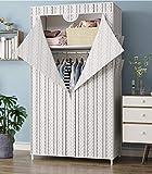 LQH No Tejidas Telas Armario de Almacenamiento gabinetes Plegable Armario de Acero de Tubo Individuales Armario Dormitorio Moderno a Prueba de Polvo, Rosa (Color : White)