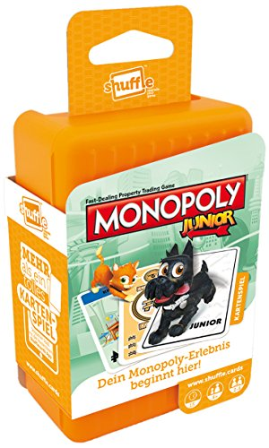 ASS Altenburger 22502779 - Shuffle Monopoly Junior, Kartenspiel
