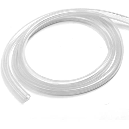 sourcing map Silicone Tubing 4mm ID 6mm OD 5m Aquarium Pump Air Hose Water Pipe Silicone Rubber Tube Clear with Check Valves 1//4