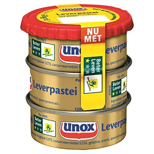 Unox Leverpastei - Leberwurst 3 * 56g