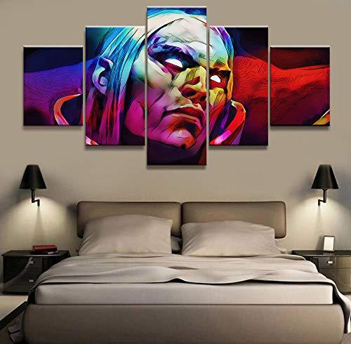 ADGUH Leinwanddrucke5 Stück HD Bild Dota 2 Spiel Poster Wandaufkleber Gemälde Kunstwerk Leinwand Kunst für Wohnkultur Wandkunst5 Drucke auf Leinwand