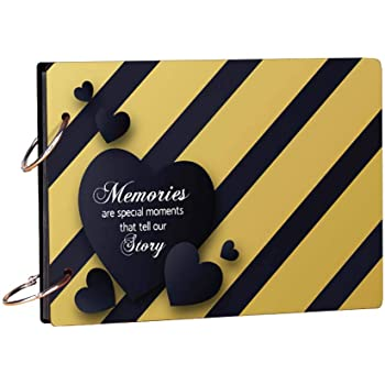 100yellow® Memories Theme Wooden Photo Album Scrapbook