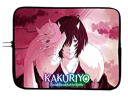 Kakuriyo Bed and Breakfast for Spirits Anime Laptop Sleeve Bag 15 Inch Laptop Case Mousepad Surface MacBook Pro/MacBook Air Laptop/Tablet Water Repellent