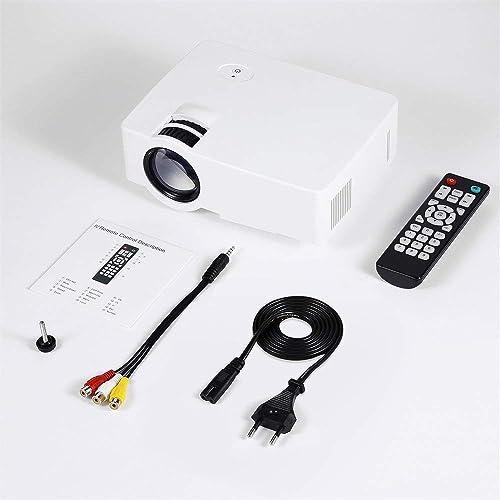 Yaoaomon E08S Projecteur 200 luPour des hommes 800 x 480 HD LED Cinéma Contrôle IR Infrarouge cablé Même écran Blanc EU Plug