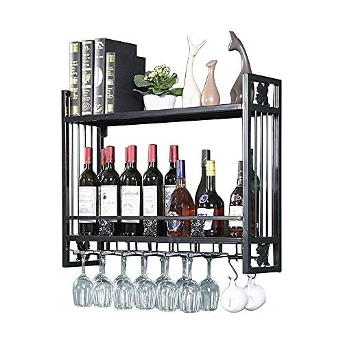Alqn Soporte de Vino Rústico Creativo Montado en la Pared   Estante de Alenamiento Multifuncional   Soporte de Botella de Vino Vintage   Estante de Exhibición de Alenamiento de Vino   Estante Organiz