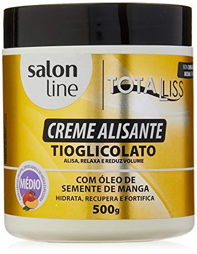Salon Line - Linha Transformacao (Tioglicolato de Amonia) - Creme Alisante Oleo De Semente De Manga Medio 500 Gr - (Ammonium Thioglycolate - Mango Seed Oil Straightening Cream (Medium) Net 17.63 Oz)