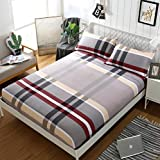 GAOXUE Spannbetttuch,Anti-Schmutz-Bettdecke, Bedruckte Spannbetttücher, atmungsaktive Babybettdecke, geeignet für EIN doppeltes Kingsize-Bett (H_180cmx200cm + 30cm)