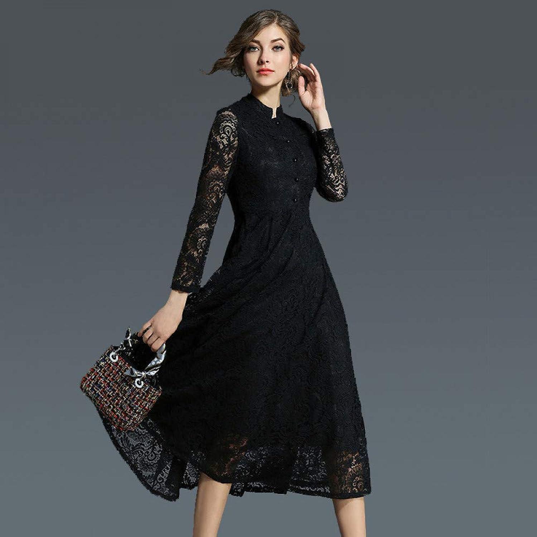 Cxlyq Dresses Long Swing Dress, Slim Retro Dress, Long Jacquard