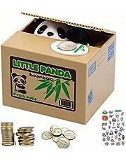 MOMMED Caja de Dinero Electrónica Panda - Caja de Dinero con Pata de Panda para Monedas - Hucha Divertida Pequeña Caja de Ahorros Eléctricos - Caja de Dinero - Caja de Dinero Panda