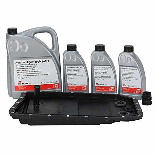 Kit de vidange de vitesses pour transmission automatique 6hp26, 6hp28, 6hp32 ölwanne avec joint et filtre, 8 L étanche à l'huile de transmission ATF + Douille