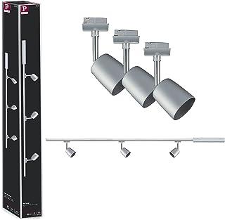 Paulmann 954.62 URail Set Cover max 3 x 10 W GU10 chrom matowy/chrom 230 V 1 m system szynowy lampa szynowa oświetlenie su...