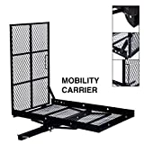TKMD Wheelchair Carrier Mobility Scooter Loading Ramp Heavy Duty Strong Hitch Cargo, 500 Lbs Capacity (Foldable)