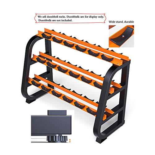 Mancuerna Rack Comercial Juego de Mancuernas máquina Profesional de Soporte de Almacenamiento mancuerna Gimnasio de los Hombres caseros mancuerna Rack (Color : Orange, Size : 135 * 55 * 92CM)