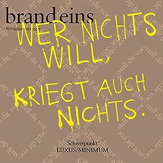 Bio und die kleinen Preise (brand eins: Luxus/Minimum) Titelbild