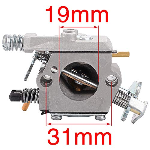 Harbot Carburetor Gasket Fuel Line Pimer Bulb Air Filter for Poulan 2150LE Predator 2155 2175 2350 2375 2375LE 2450 2550 2550LE 2550SE 262 PP210 PP260 PPB1838LE S1634 Snapper S1838 SM4018 Chainsaw
